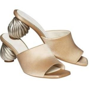H&M Beige Sandals Sustainable Collection (NWOT)